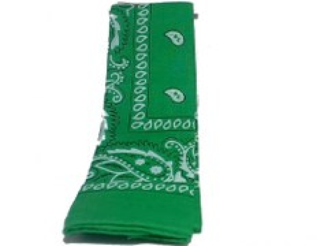 Bandana Dark Green Color